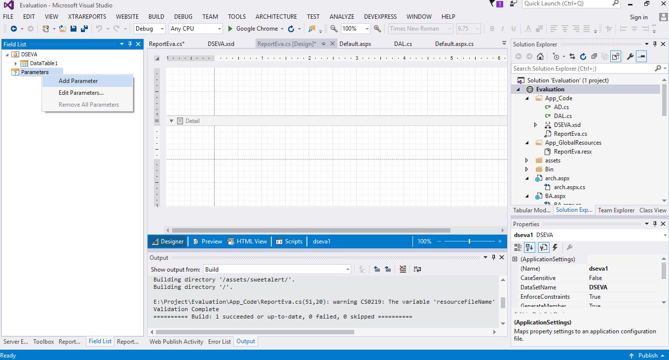 การใส่ Parameters ใน Report Devexpress!! | Information